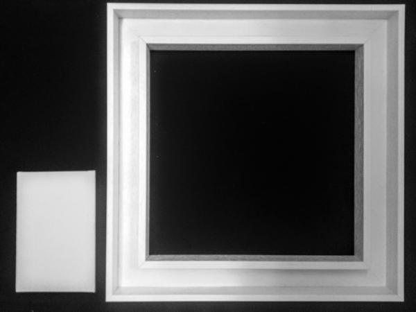 schattenfugen rahmen f r malkarton 40x40 cm. Black Bedroom Furniture Sets. Home Design Ideas