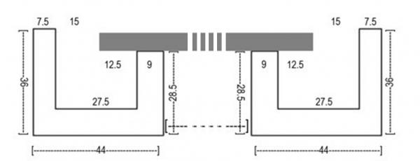 schattenfugen rahmen f r malkarton 30x40 cm. Black Bedroom Furniture Sets. Home Design Ideas