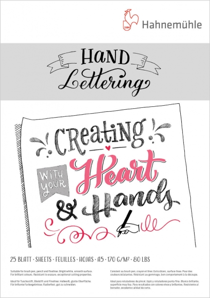 Hand Lettering Block, 170g/m2, A4